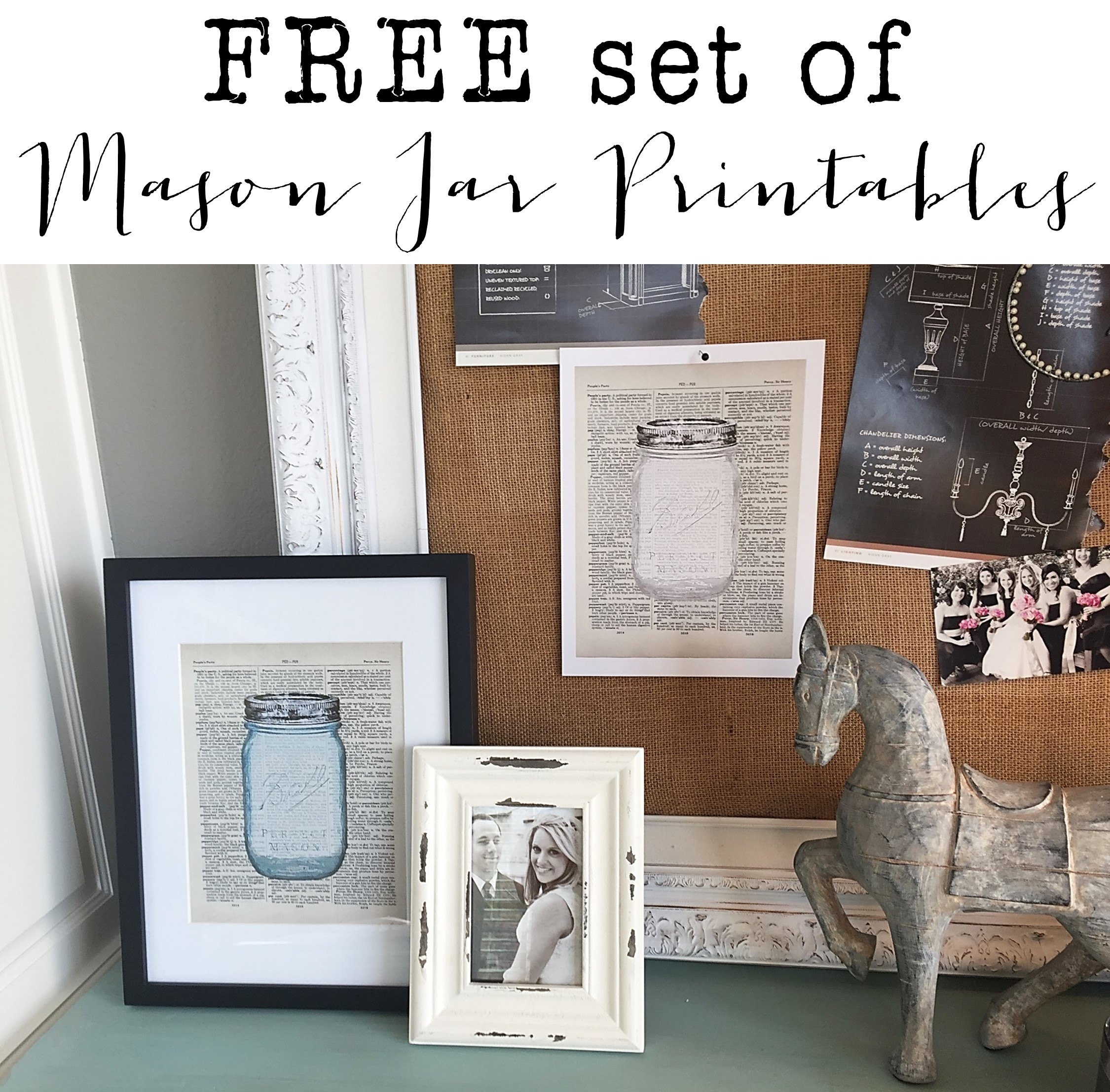 frugal finds farmhouse furniture home decor get 2 free mason jar printables start receiving happy mail in your email