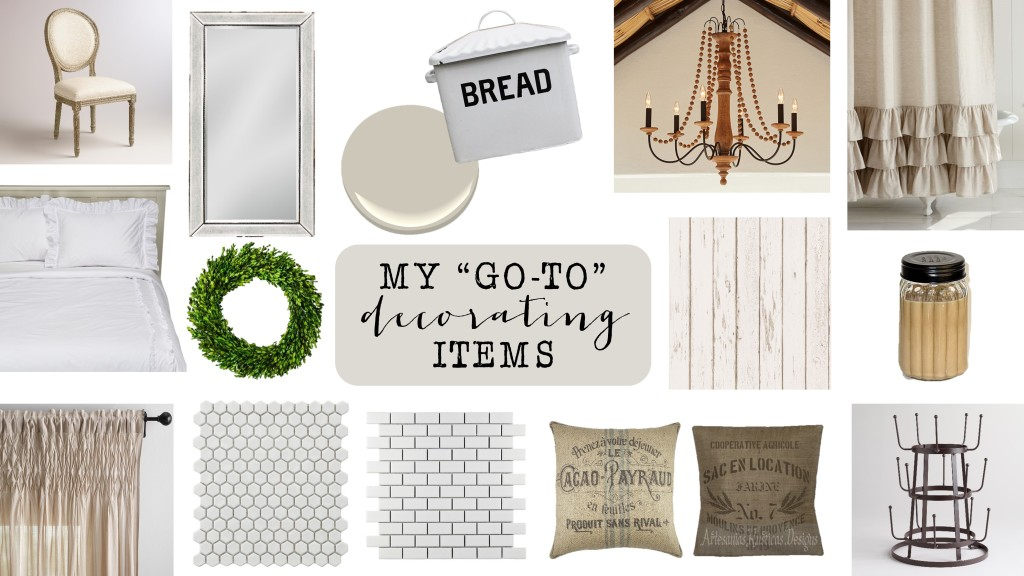 """Decorating Favorites- My """"go-to's"""""""