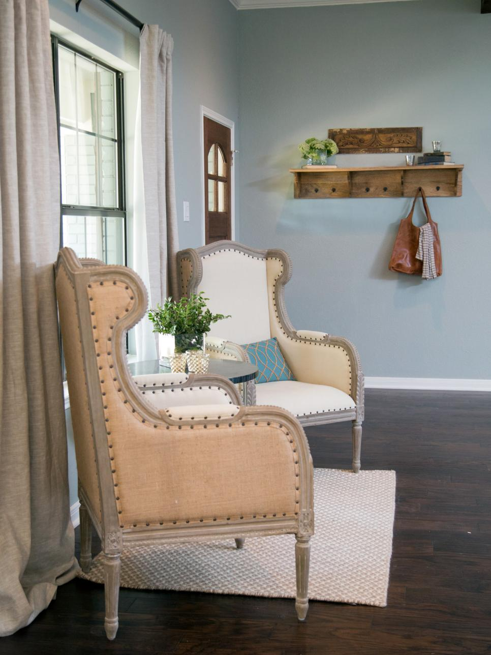 Joanna Gaines via HGTV Farmhouse Accent Chairs