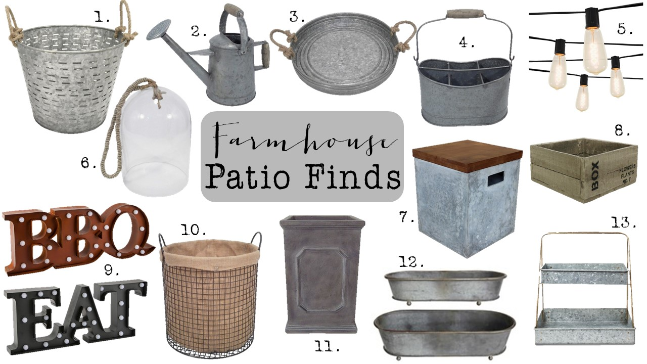 Farmhouse Patio Finds