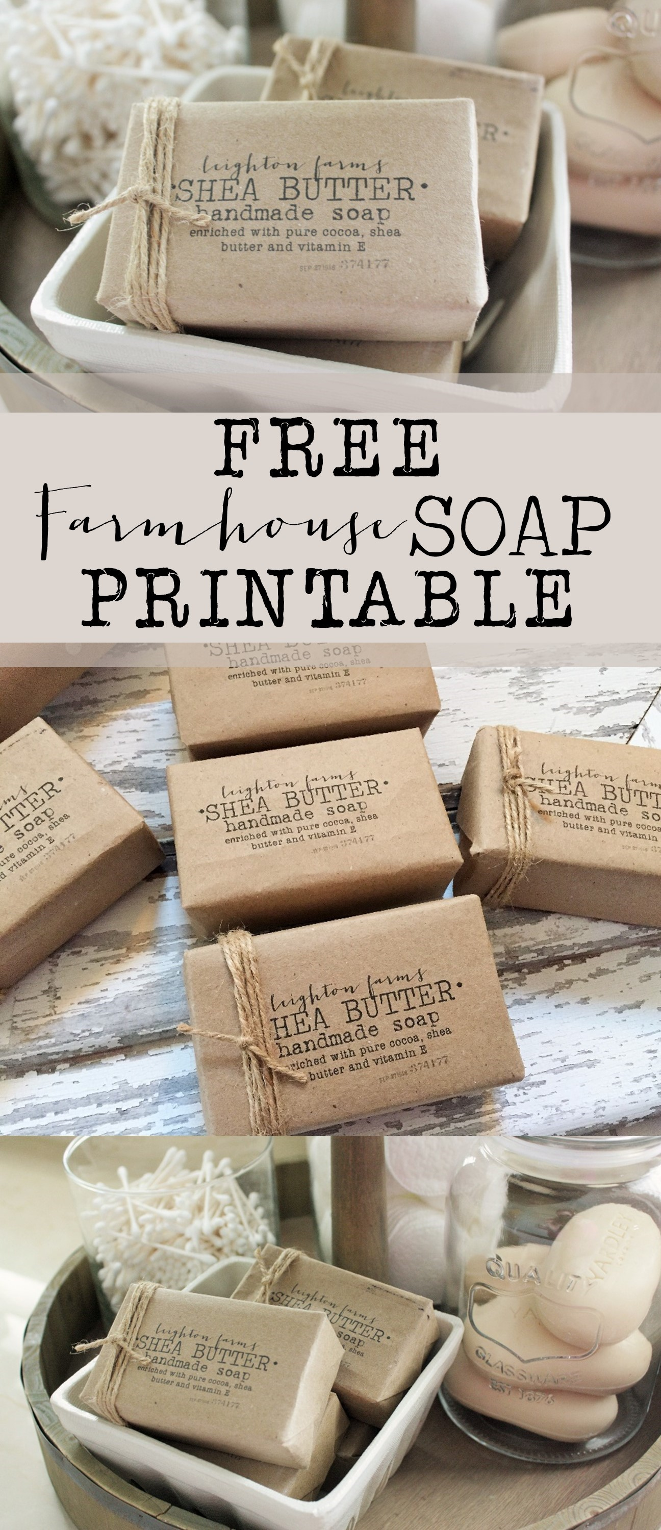 photograph about Printable Soap Labels known as Cost-free Farmhouse Cleaning soap Printable - Area of Hargrove