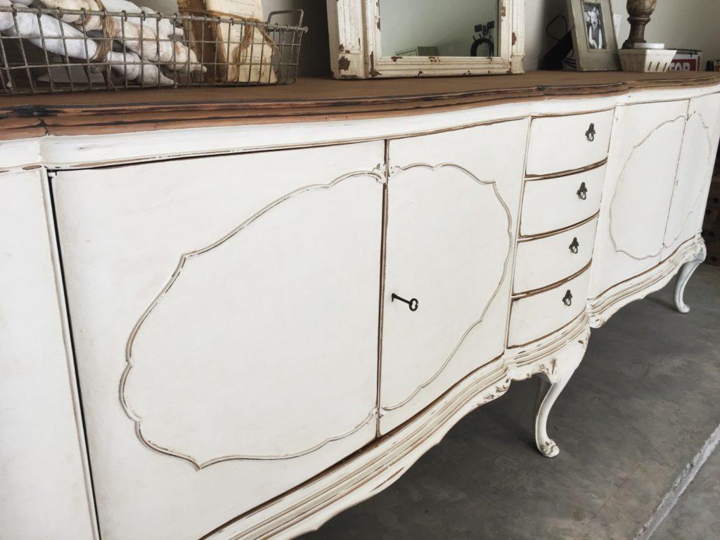 HUGE Antique Sideboard makeover