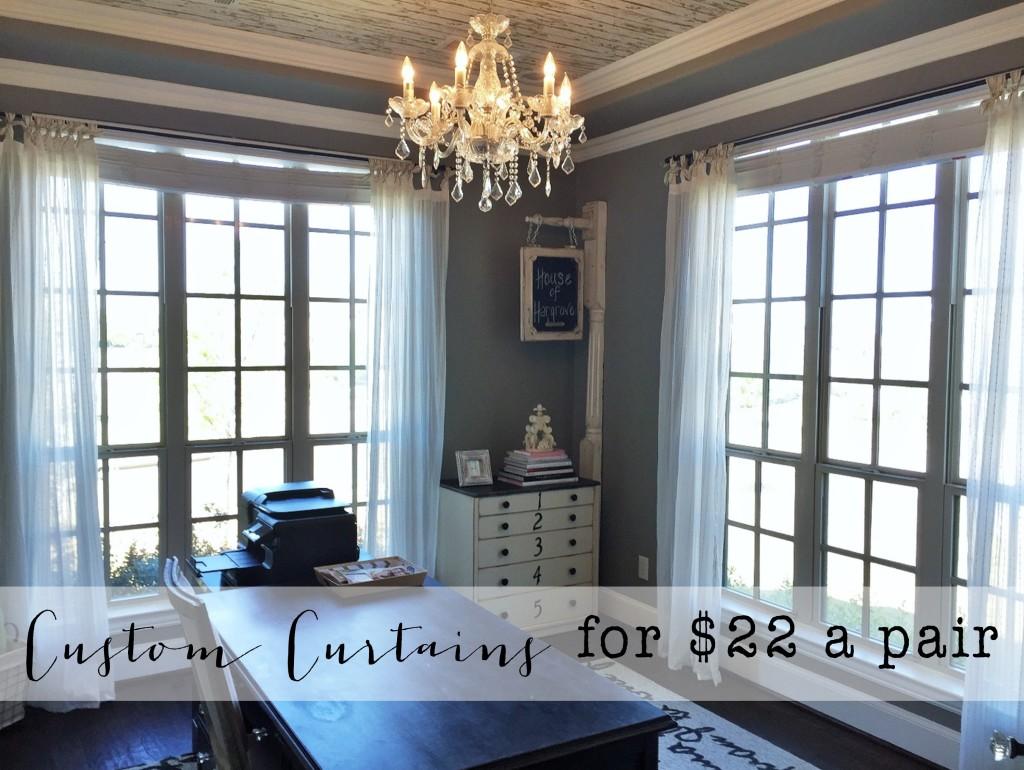 DIY : Inexpensive Custom Curtains