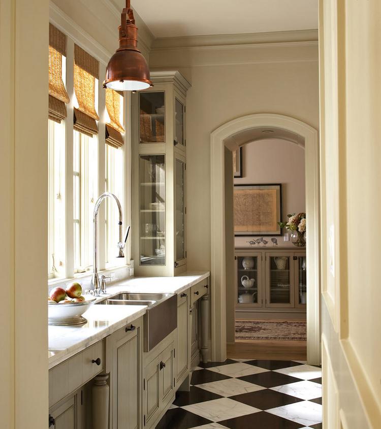 Checkered Kitchen Floor: Beautiful Home Inspiration