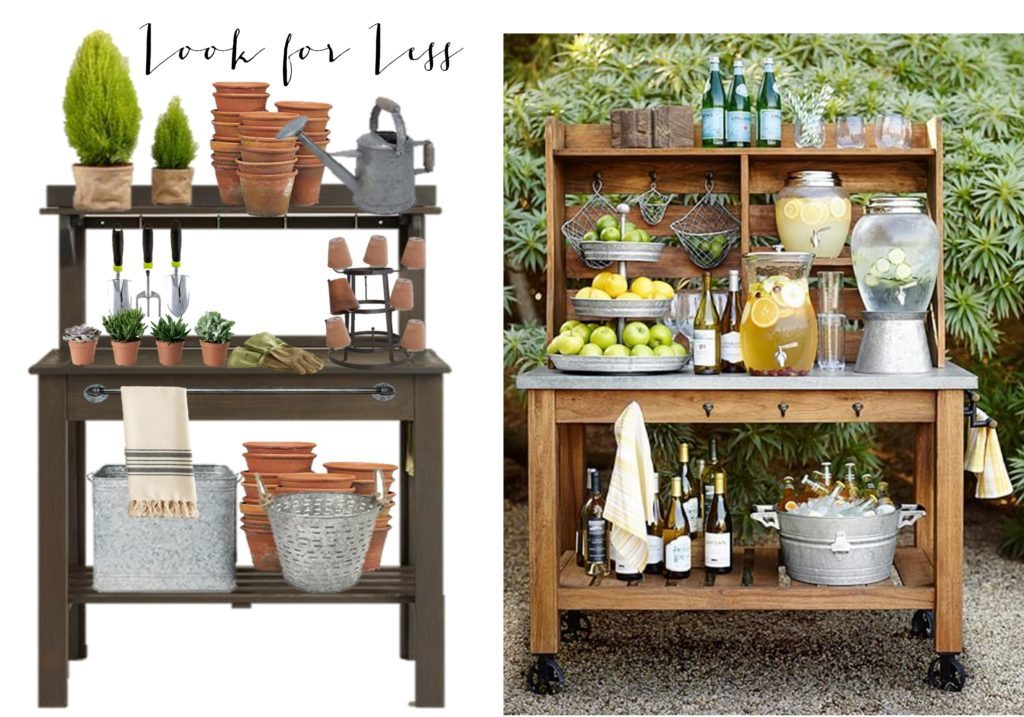 Potting Bench Love- look for less