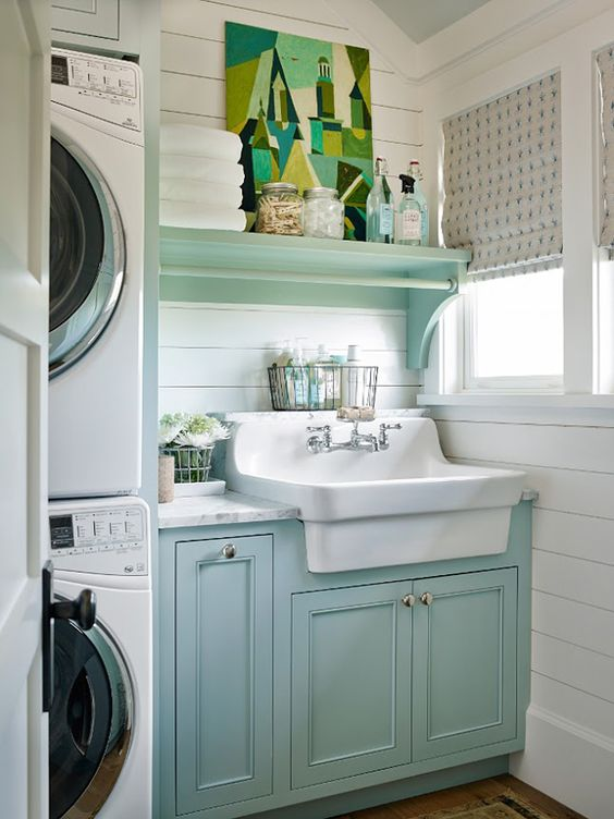 Aqua Laundry Room