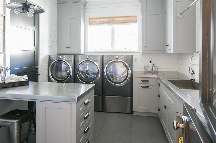 Stainless Steel Laundry Room
