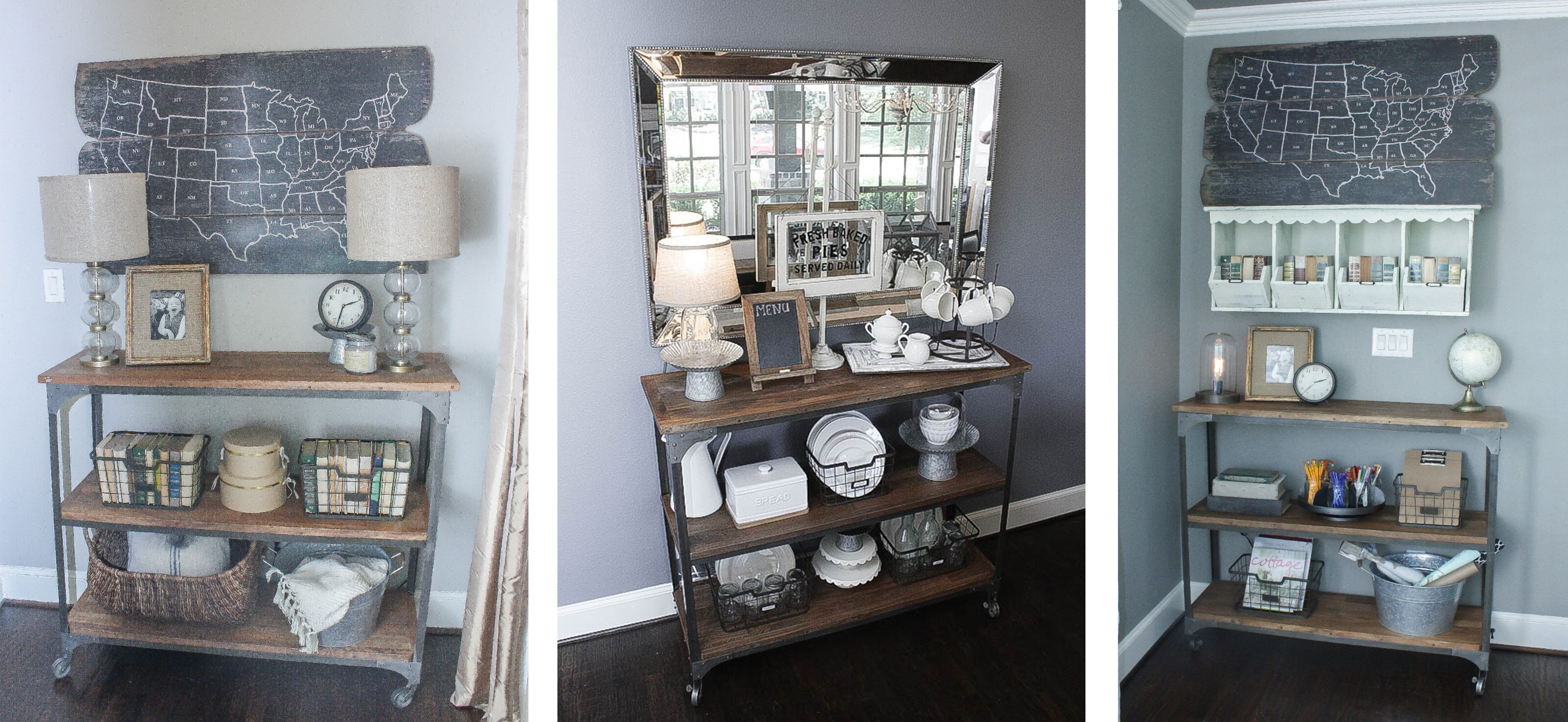 Charmant 3 Ways To Style The Aiden 3 Shelf Console Table