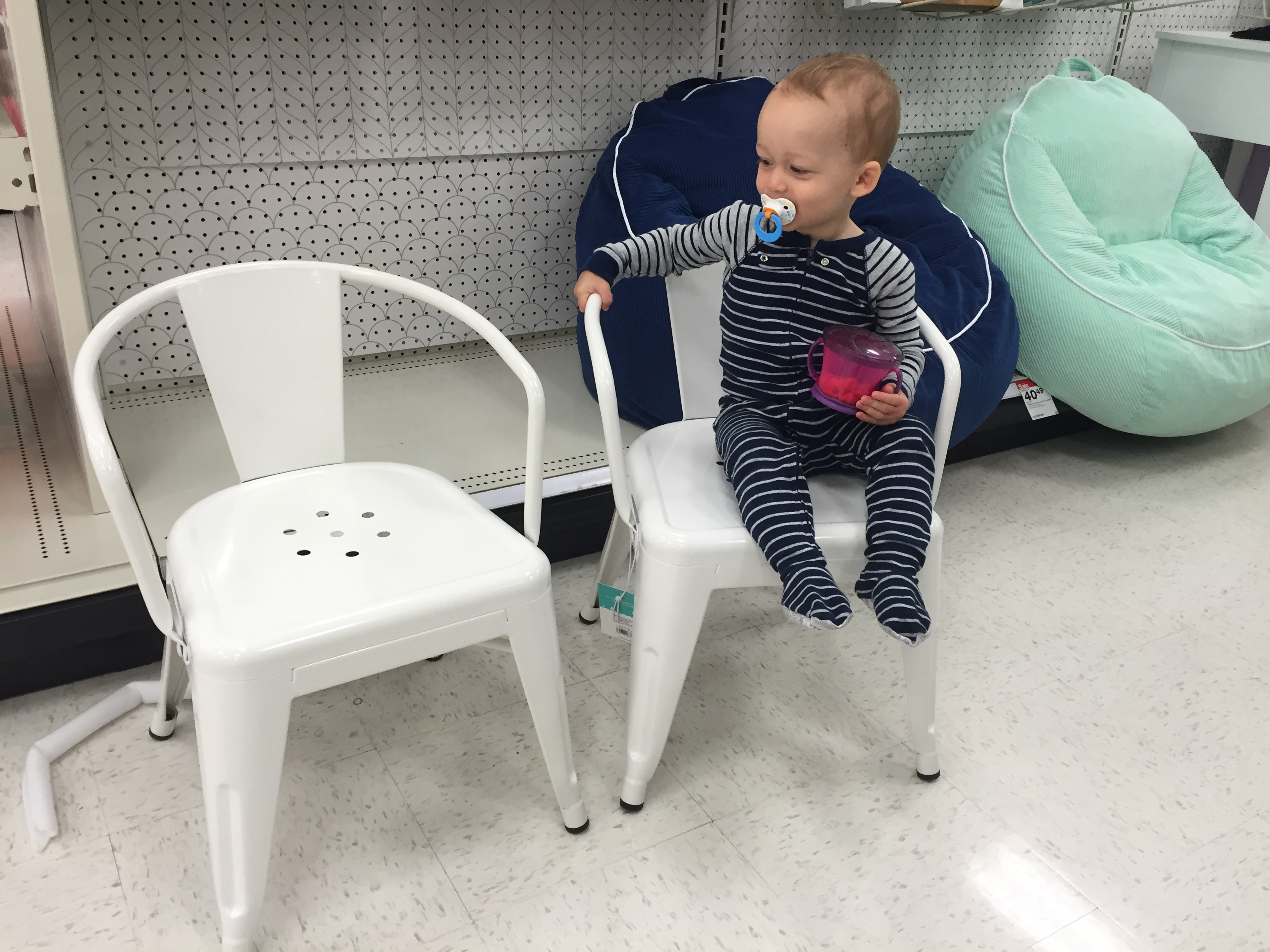 These Industrial Cafe Chairs Are Standard Size. They Are In The Kids  Section, But Can Totally Be Used For Adults Too. These Would Be Great As A  Desk Chair, ...