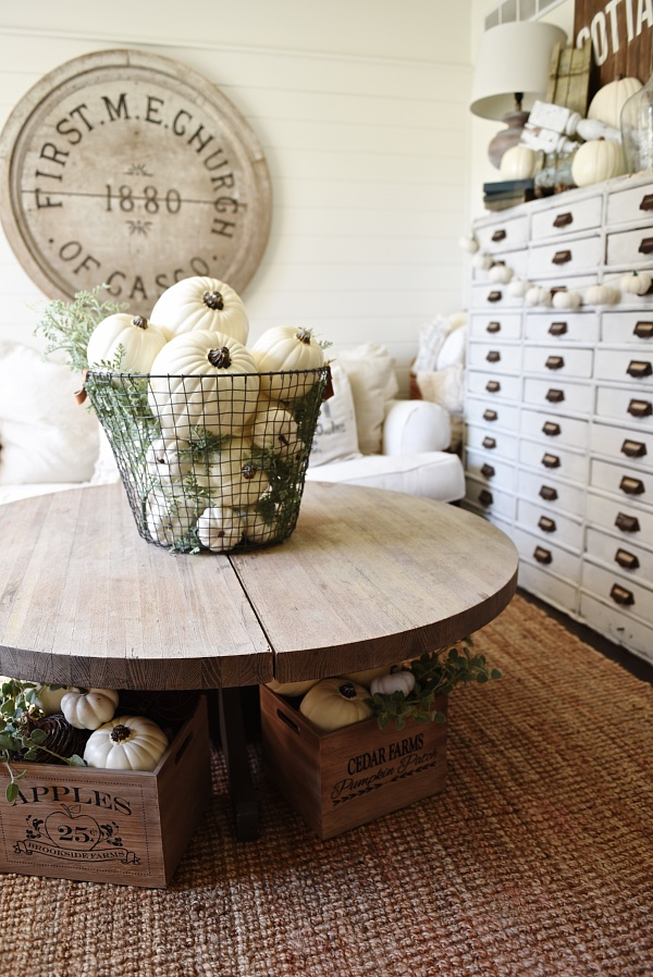 Basket O Pumpkins By Liz Marie Blog Fall Decor Inspiration