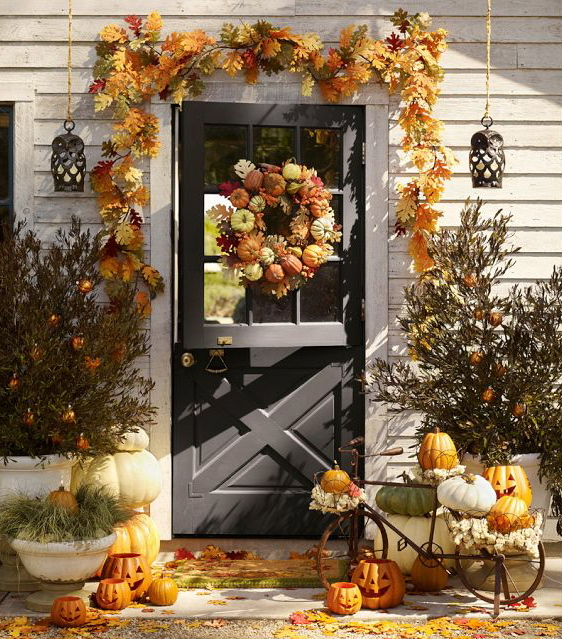 Marvelous Pottery Barn Fall Decor Ideas Grey Door