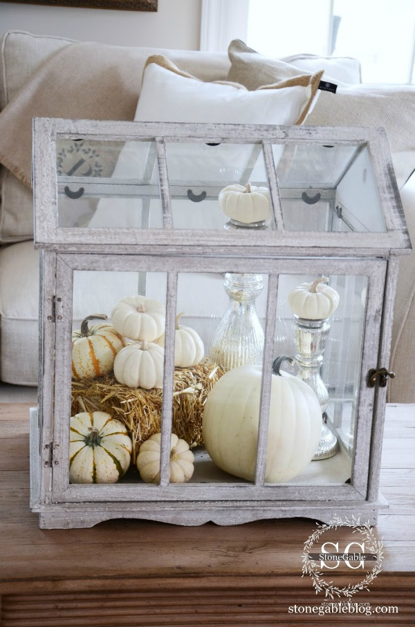 Glass Greenhouse, Decorating with Pumpkins