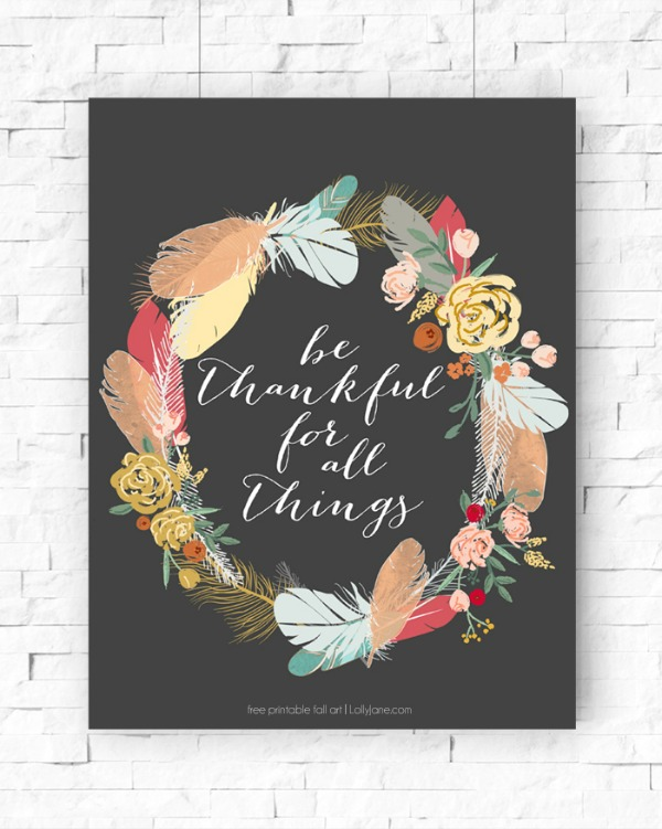 Lolly Jane Be Thankful, Fall Printables
