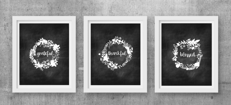 On Sutton Place Trio of Chalkboard Fall Prints, Fall Printables
