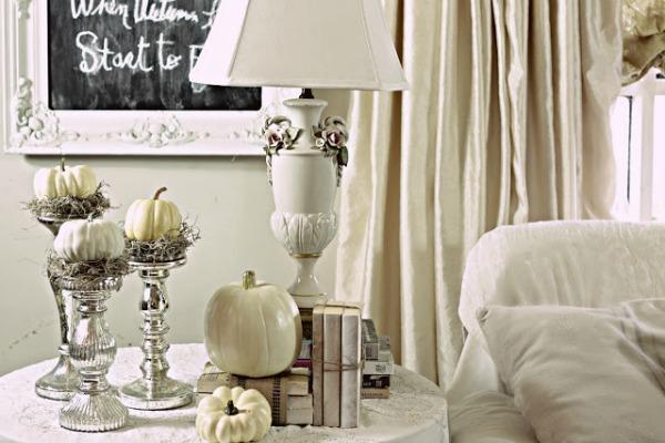 Pumpkins and Candle Sticks, Decorating with Pumpkins