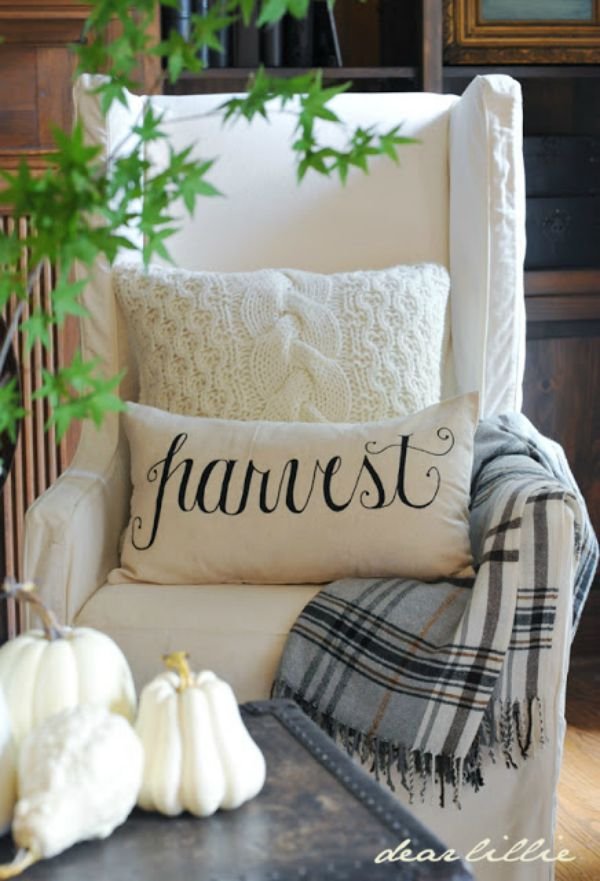 Image result for fall pillow decor