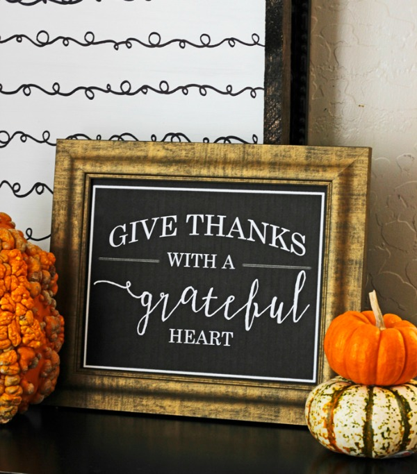 Give Thanks The Diary of Daves Wife, Fall Printables