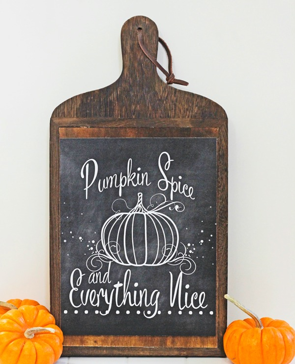 Pumpkin Spice Chalkboard Art The Diary of Daves Wife, Fall Printables