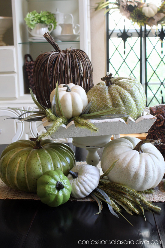Thrifty Fall Decor, Decorating with Pumpkins