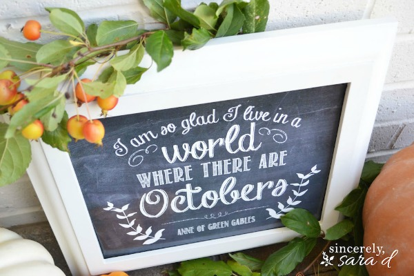 Unexpected Elegance World with Octobers, Fall Printables