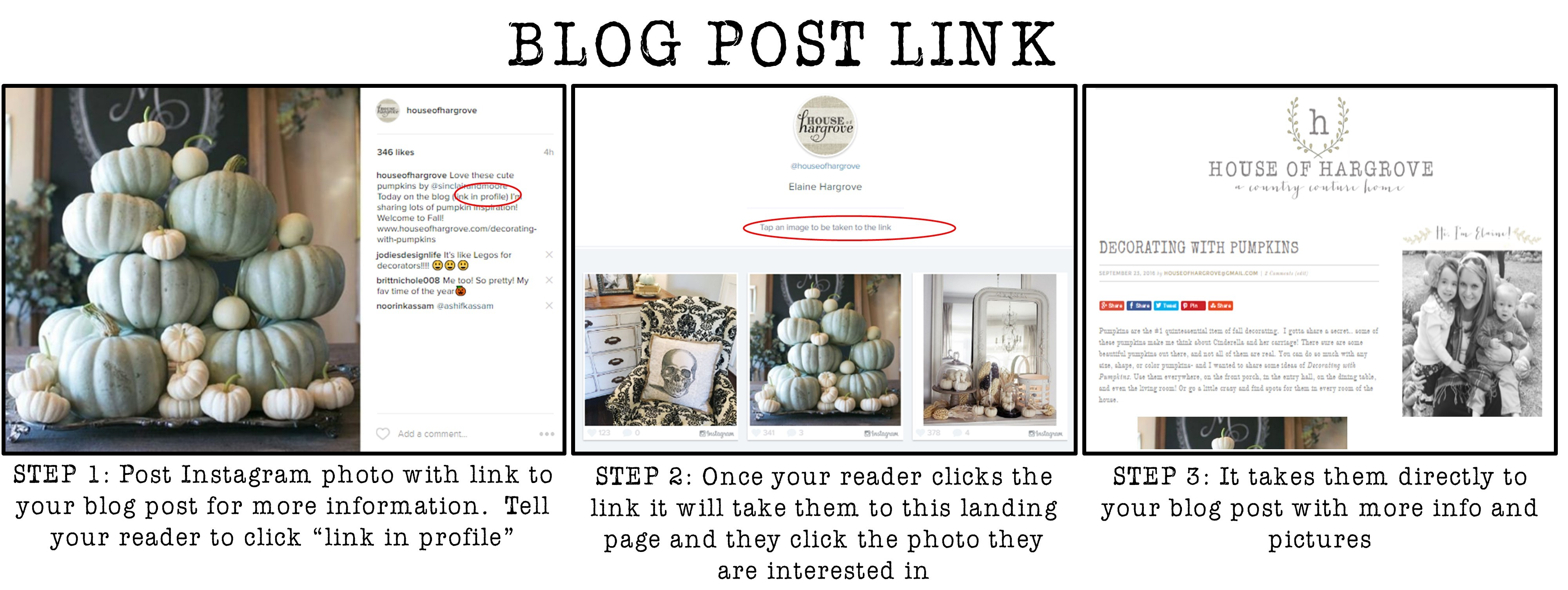 how to add a clickable link to instagram post