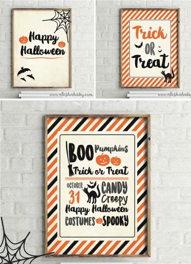 Alesha Haley, Halloween Printables