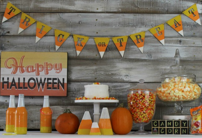 Candy Corn Carnival by Everyday Party, Halloween Tablescapes and Party Ideas