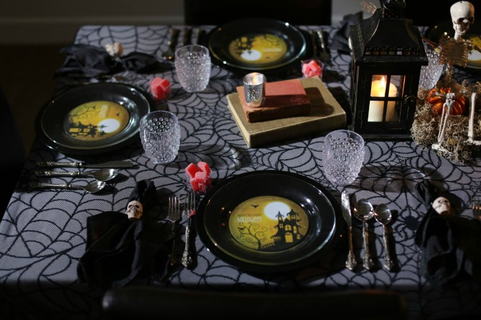 Candlelit Dinner Party by Create UR Plate, Halloween Tablescapes and Party Ideas