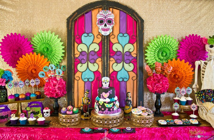 Day of the Dead Party by Michelle's Party Plan It, Halloween Tablescapes and Party Ideas