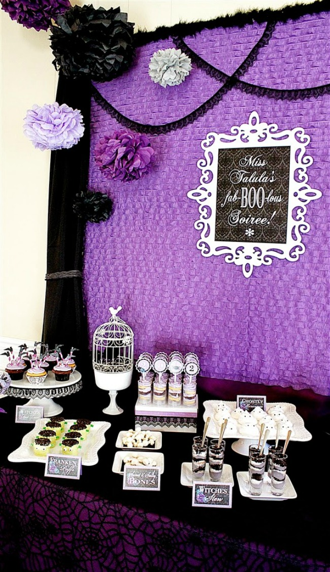 Fab-BOO-lous Halloween Soiree by A Lovely Design, Halloween Tablescapes and Party Ideas