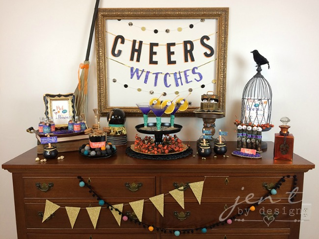 Ghoul's Night in Boos or Booze Party by Jen T by Design, Halloween Tablescapes and Party Ideas