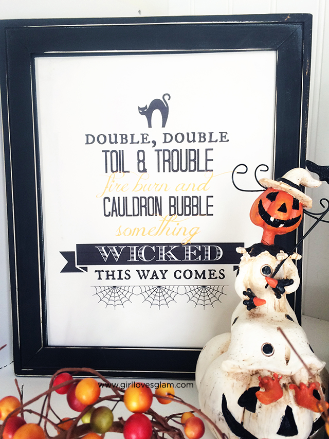 Girl Loves Glam, Halloween Printables