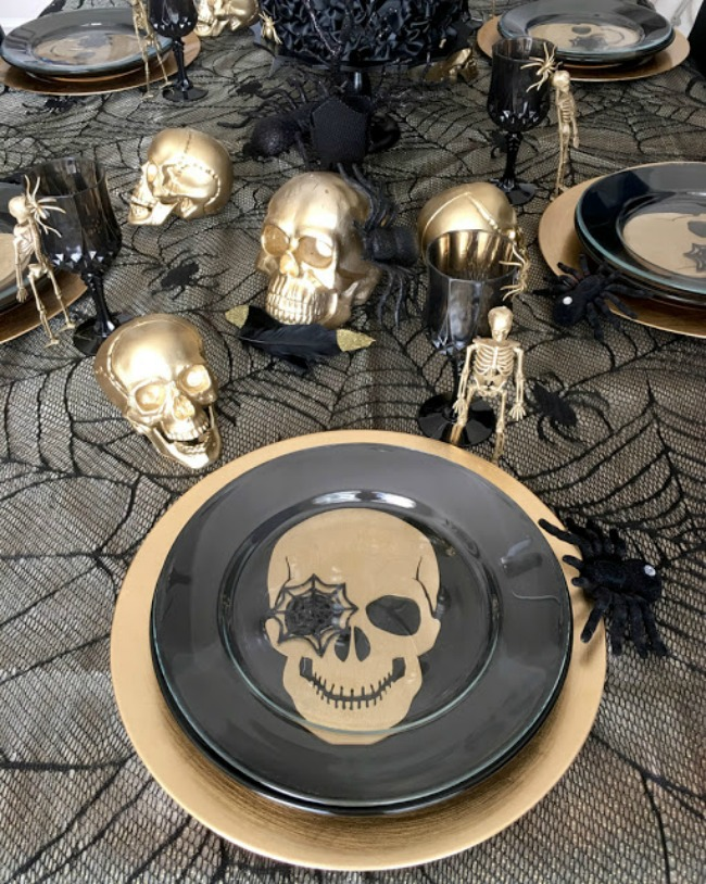 Halloween Gothic Chic Dinner Party by BellaGrey Designs, Halloween Tablescapes and Party Ideas