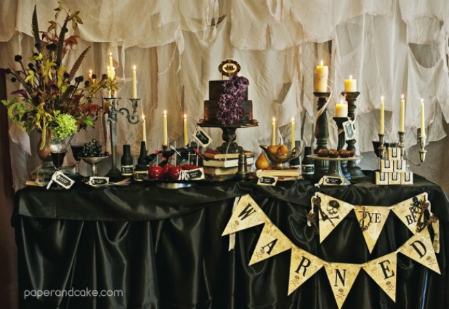 Haunted Pirate Halloween Party by Paper and Cake, Halloween Tablescapes and Party Ideas