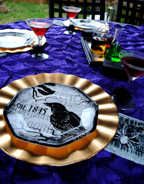 Outdoor Halloween Dining by Fizzy Party, Halloween Tablescapes and Party Ideas