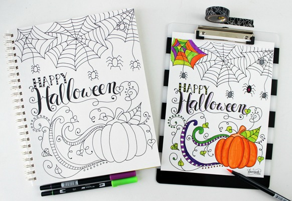 By Dawn Nicole for The Pinning Mama, Halloween Printables