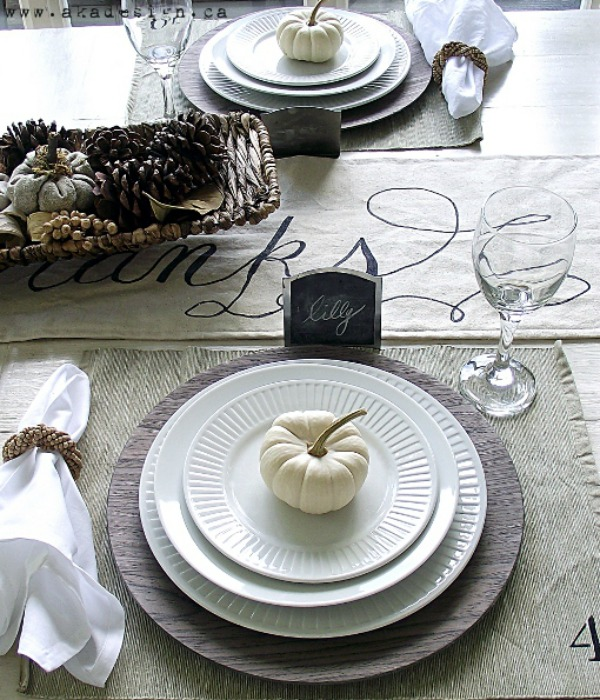 AKA Design, Thanksgiving Tablescapes via House of Hargrove