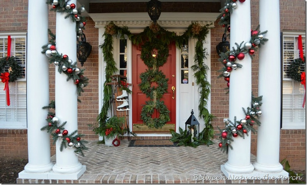 Between Naps on the Porch, Christmas Porches via House of Hargrove