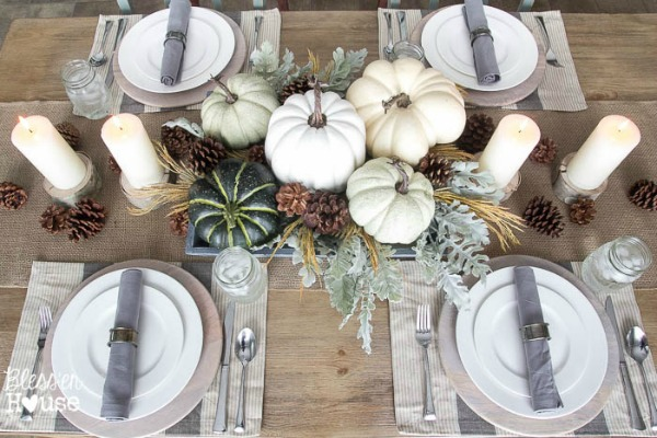 Bless'er House, Thanksgiving Tablescapes via House of Hargrove