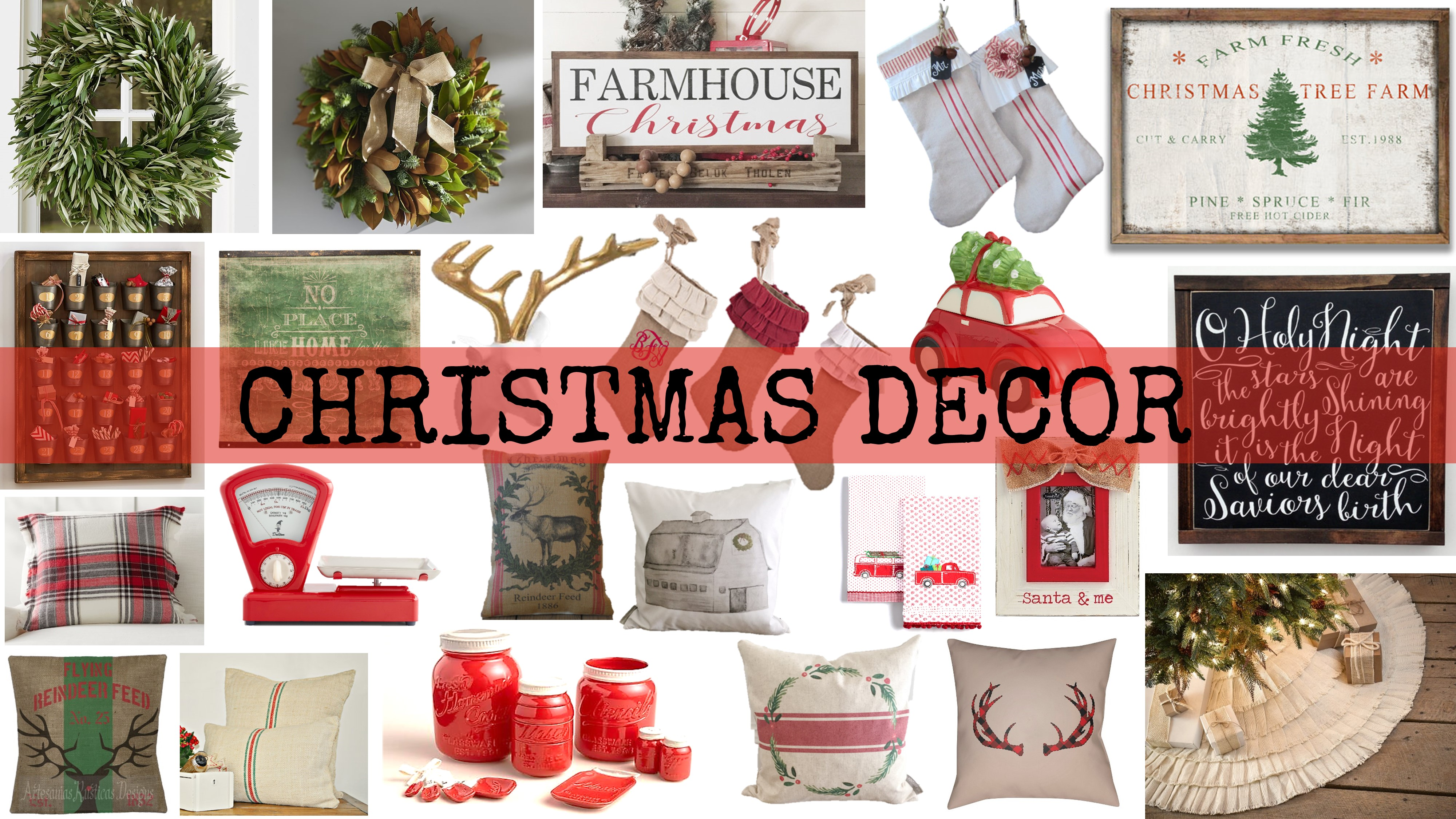 My favorite farmhouse holiday decor house of hargrove for After christmas decoration sales