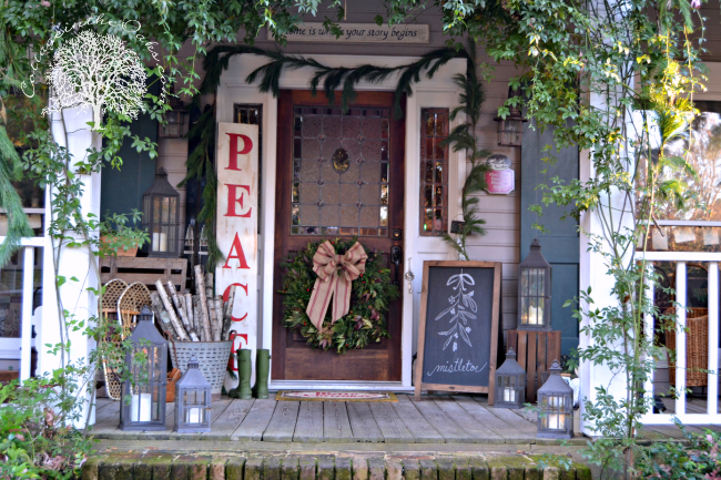 cottage in the oaks christmas porches via house of hargrove