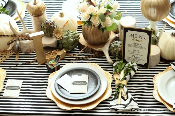 Giggles Galore, Thanksgiving Tablescapes via House of Hargrove