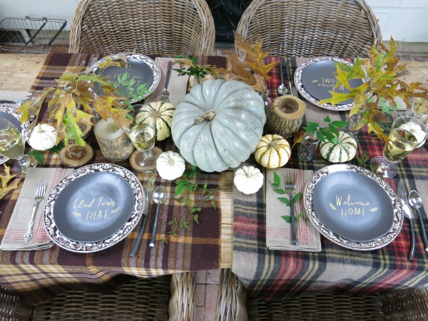 Holly Mathis Interiors, Thanksgiving Tablescapes via House of Hargrove