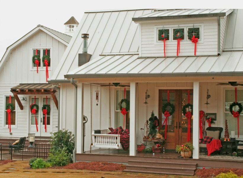 Mt. Carmel Church Lane, Christmas Porches via House of Hargrove
