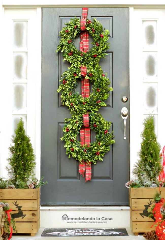 Remodelando la Casa, Christmas Porches via House of Hargrove