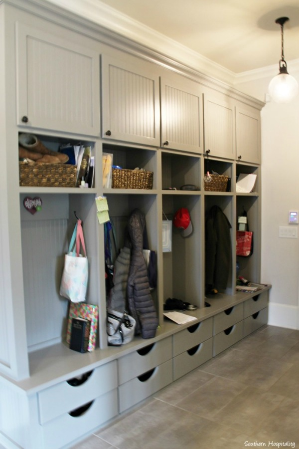 Farmhouse mudrooms house of hargrove for Garage mudroom designs