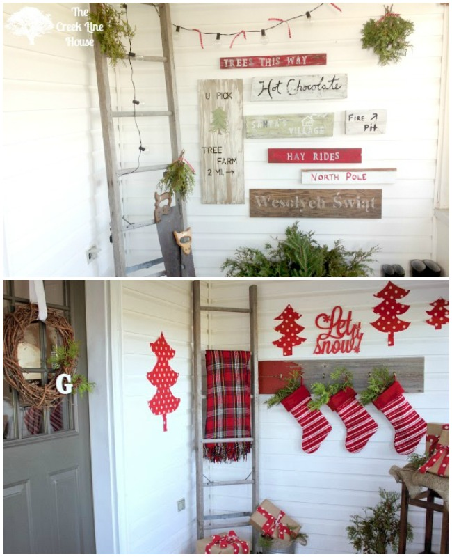 The Creek Line House, Christmas Porches via House of Hargrove