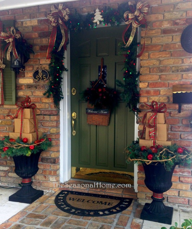 The Seasonal Home, Christmas Porches via House of Hargrove
