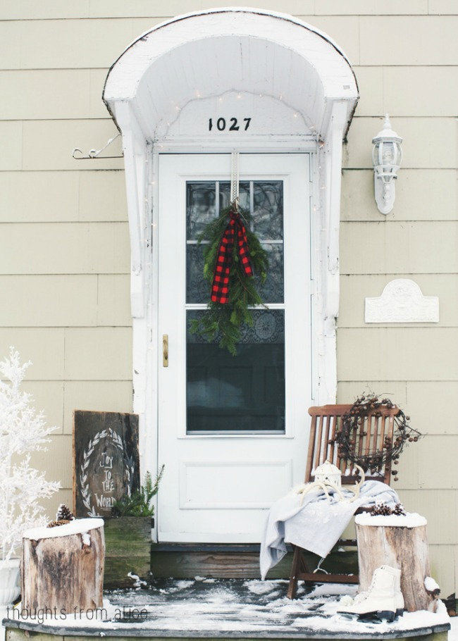 Thoughts from Alice, Christmas Porches via House of Hargrove