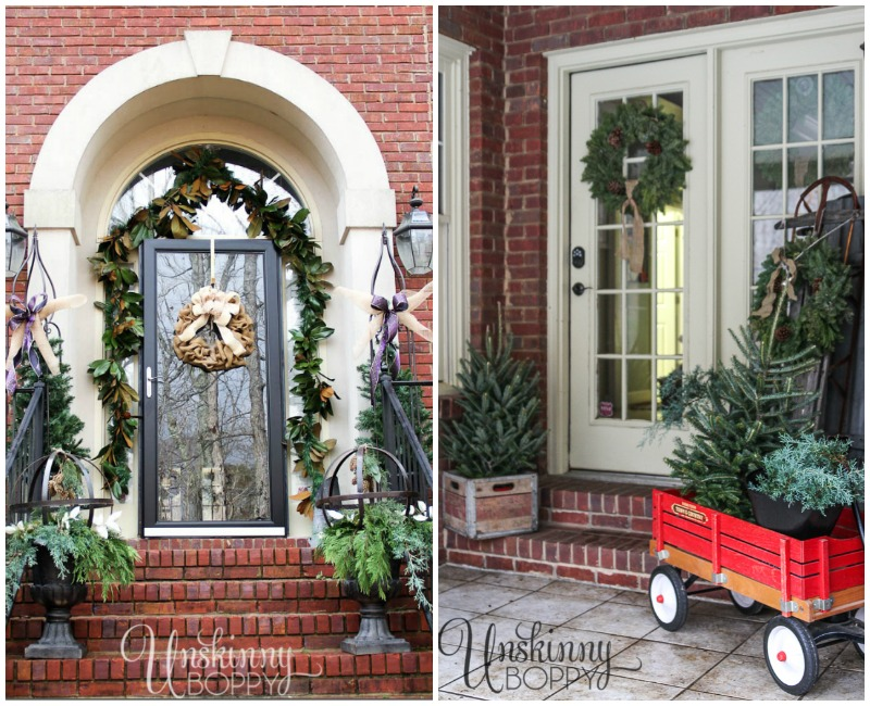Unskinny Boppy, Christmas Porches via House of Hargrove